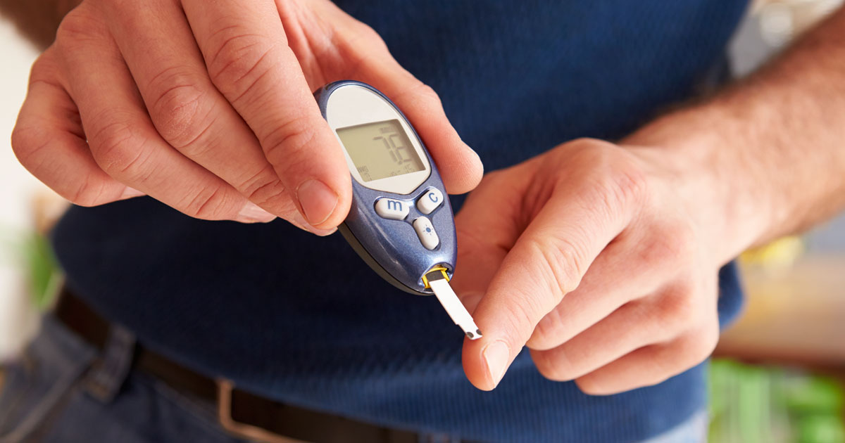 What are the chances of an average person getting diabetes?